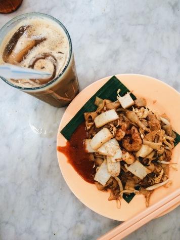 Kuala Lumpur; Char Kuey Teow + White Coffee